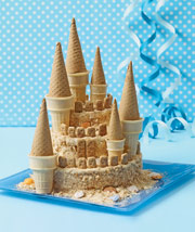 Towering-Sand-Castle-Cake